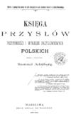 Księga przysłów, przypowieści i wyrażeń przysłowiowych polskich, Samuel Adalberg