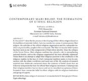 Contemporary Mari Belief (Współczesna wiara Maryjczyków), Tatiana Alybina