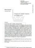 Utopijność modeli wymian symbolicznych, Michał Kłosiński